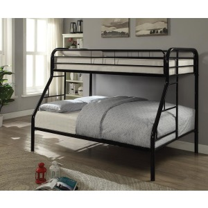 Morgan Black Twin Full Bunk Bed