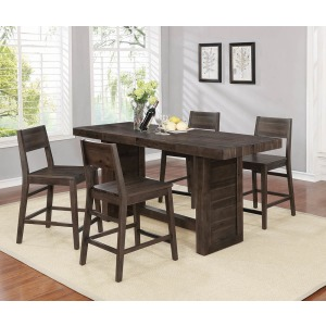 Rectangular Counter Height Table Varied Coffee