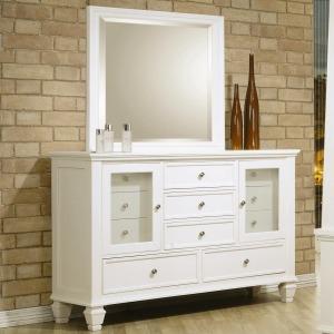 Sandy Beach Classic 11 Drawer Dresser and Vertical Dresser Mirror