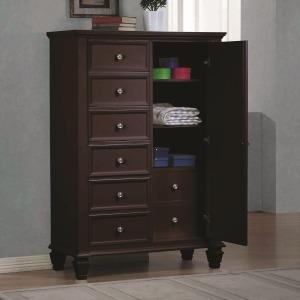 Sandy Beach Door Dresser with Concealed Storage