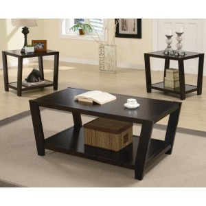 3 Piece Occasional Table Sets Contemporary 3 Piece Occasional Table Set