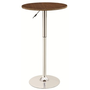 Bar Units and Bar Tables Adjustable Bar Table with Round Wood Top