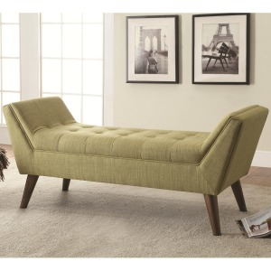 Benches Mid-Century Modern Upholstered Accent Bench