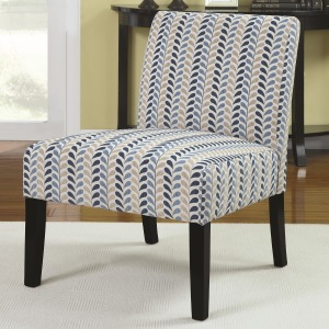Accent Seating Armless Accent Chair with Contemporary Furniture Style