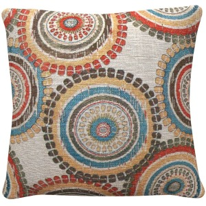 Throw Pillows Mutlicolor Medallion Pillow