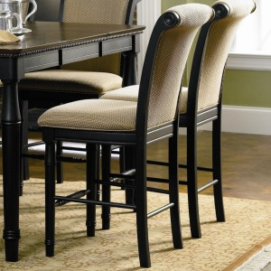 Cabrillo Counter Height Chair with Fabric Rolled Back and Seat