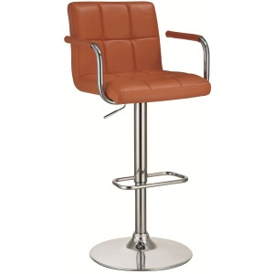 Bar Units and Bar Tables Bar Stool with Adjustable Seat and Foot Rest