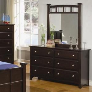 Jasper 6 Drawer Dresser with Mirror