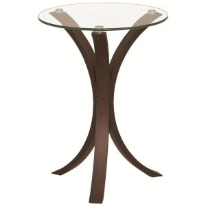 Transitional Cappuccino Accent Table
