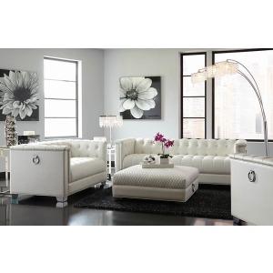 Chaviano Contemporary White Chair