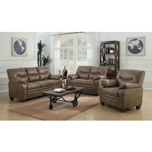 Meagan Casual Brown Three-Piece Living Room Set