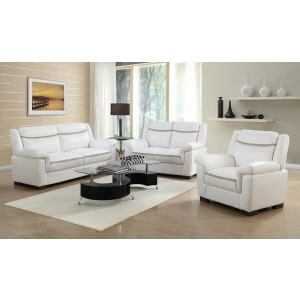 Arabella Contemporary Snow White Loveseat