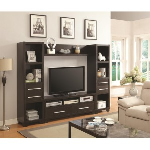 Wall Units Entertainment Wall Unit with 6 Drawers and 8 Shelves