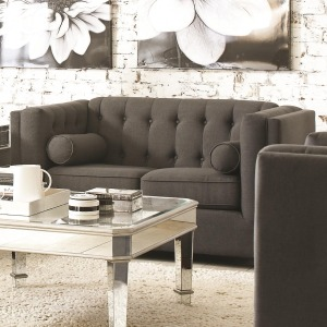 Cairns Upholstered Love Seat with Tufting