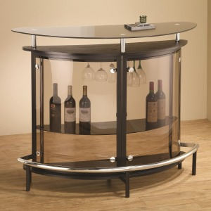 Bar Units and Bar Tables Contemporary Bar Unit with Smoked Acrylic Front
