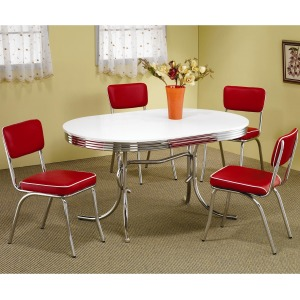 Cleveland 5 Piece Chrome Plated Dining Set
