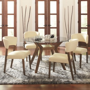 Paxton 12218 5 Piece Round Dining Table Set with Side Chairs