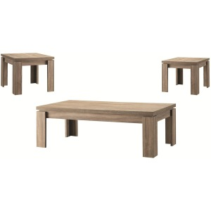 3 Piece Occasional Table Sets Weathered 3PC Occasional Set
