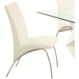 Ophelia Contemporary Leatherette and Metal Dining Chair