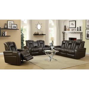 Delangelo Brown Power Motion Reclining Sofa