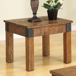 Distressed Country Wagon End Table