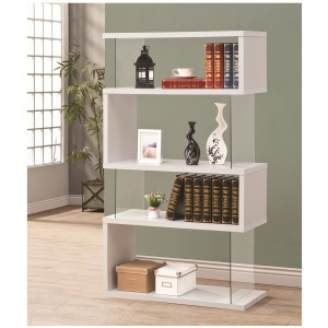 Bookcases Asymmetrical  Snaking Bookshelf