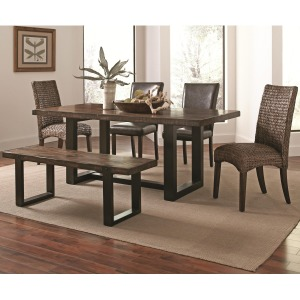 Westbrook Dining Casual Rustic 6 Piece Mix-and-Match Dining Set