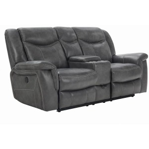 Conrad Transitional Grey Power Loveseat