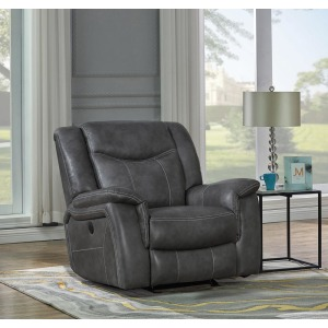 Conrad Transitional Grey Power Recliner