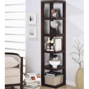 Bookcases Contemporary Corner Bookcase