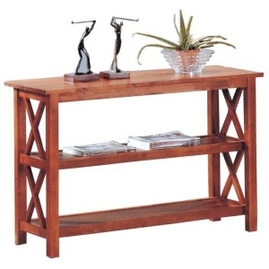Briarcliff Casual Sofa Table with 2 Shelves