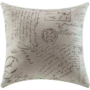 Throw Pillow - French Script Pattern