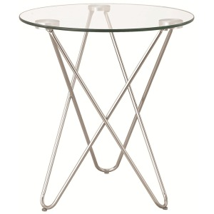 Accent Tables Petite Accent Table w/ Glass Top