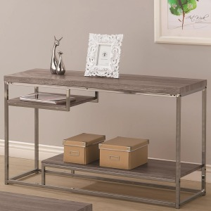 7037 2 Shelf Sofa Table with Chrome Frame
