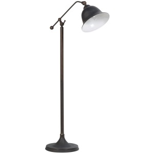 Floor Lamps Rubbed Black Metal Finish Floor Lamp