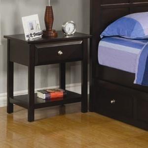Jasper Night Stand with 1 Drawer and 1 Shelf