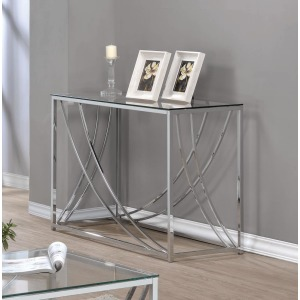 Contemporary Chrome Sofa Table