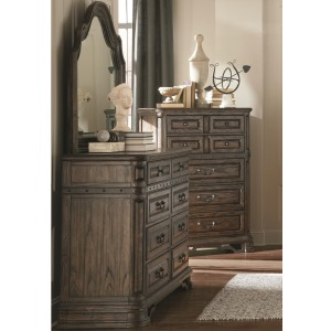 Carlsbad Dresser and Mirror Set with 8 Drawers
