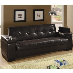 Sofa Beds Faux Leather Convertible Sofa Sleeper with Storage
