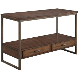 70430 Industrial Sofa Table with Two Drawers