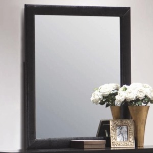 Dylan Vertical Faux Leather Dresser Mirror