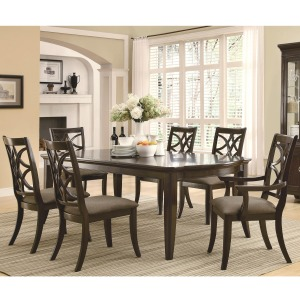 Meredith 7 Piece Leg Table and Chair Set
