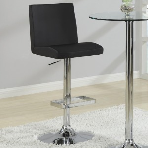 Bar Units and Bar Tables Contemporary Adjustable Black Stool