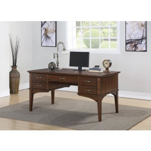 Craftsman Golden Brown Office Desk
