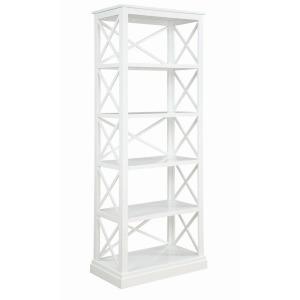 Johansson 5-Shelf Antique White Bookcase