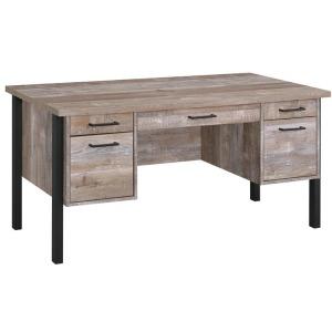 Samson Rustic Weathered Oak Office Desk