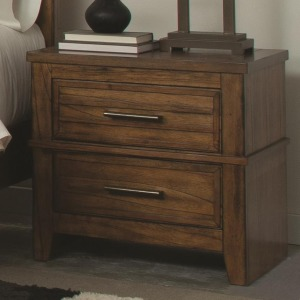 Cupertino Two-Drawer Night Stand w/ Cord Access