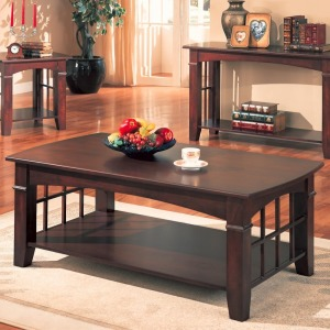 Abernathy Rectangular Coffee Table with Shelf