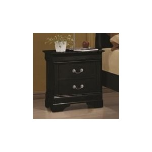 Louis Philippe 2 Drawer Night Stand
