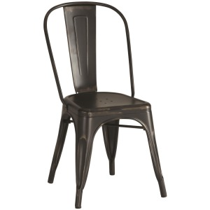 Metal Dinning Chairs Rustic Black